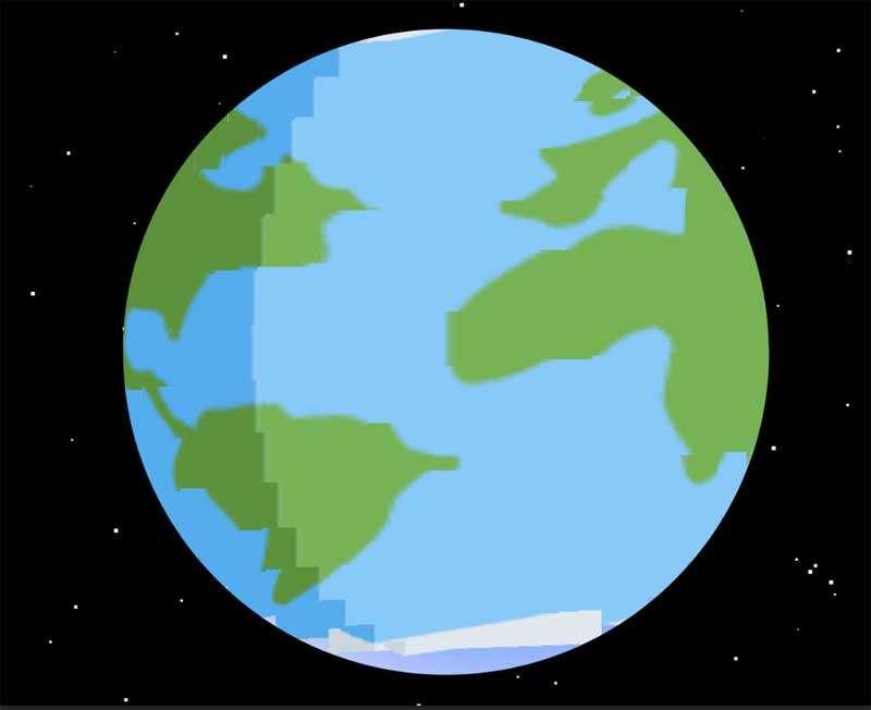 卡通地球动画canvas特效