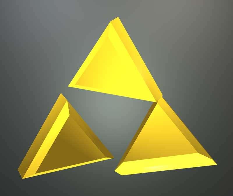 酷炫3d三角形立体动画特效