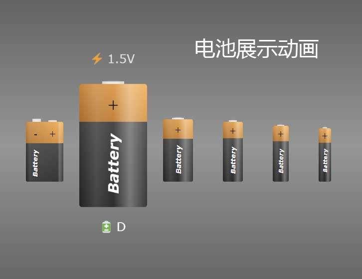 电池型号ui布局特效