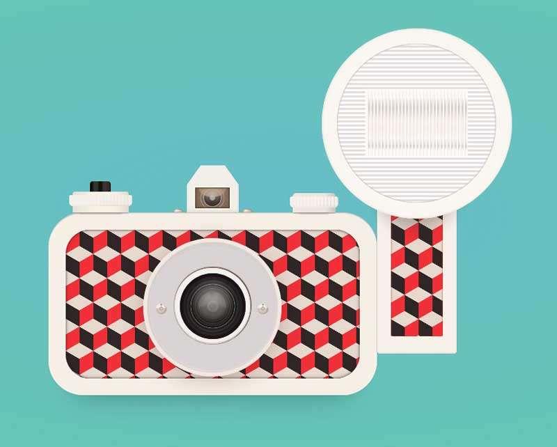 精美的老式照相机ui特效
