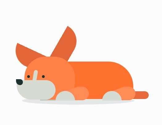 卡通睡觉的狗动画特效