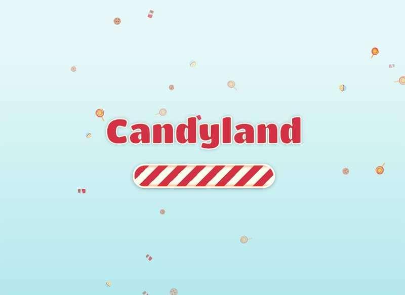 糖果掉落引导页动画特效