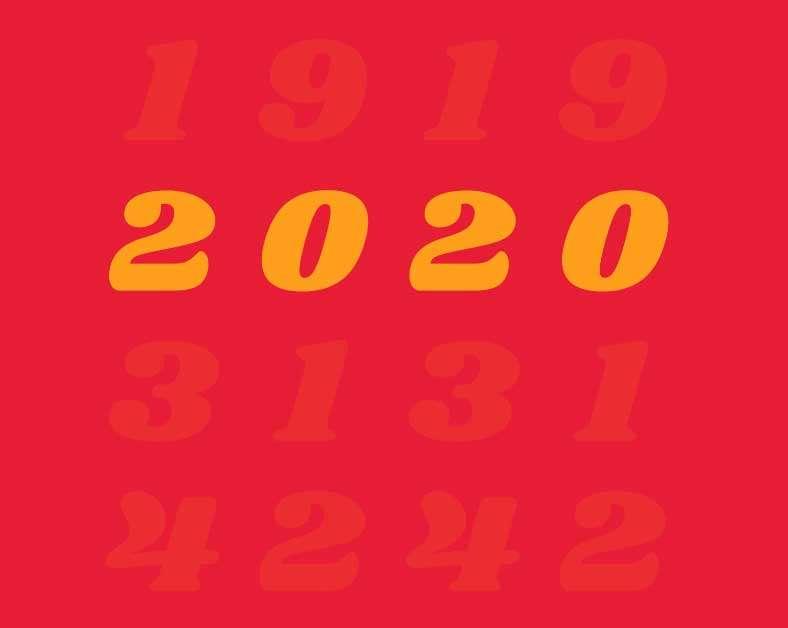 一百周年数字滚动特效