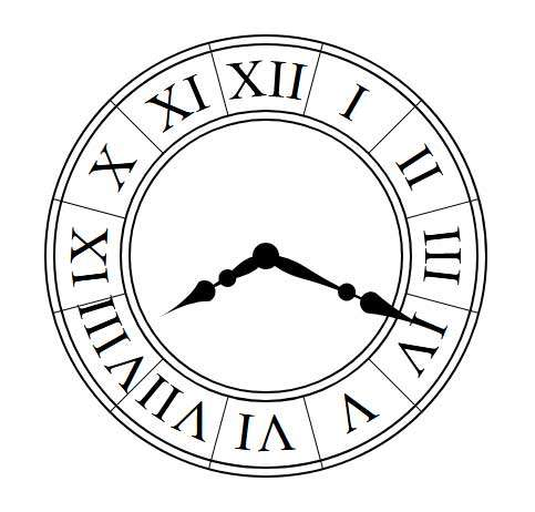 圆形的罗马时钟ui特效