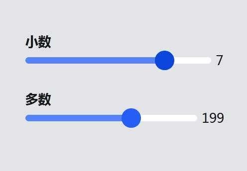 html5带范围滑块拖动数值特效