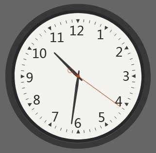 精美的圆盘时钟svg特效
