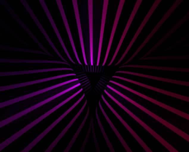 html5 canvas循环的波浪隧道动画特效