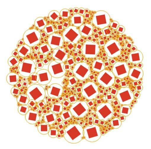html5 canvas圆形的泡沫动画特效