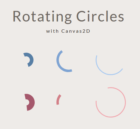 html5 canvas圆形旋转加载动画特效