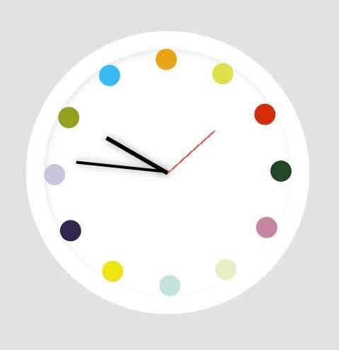 七色板时钟ui特效