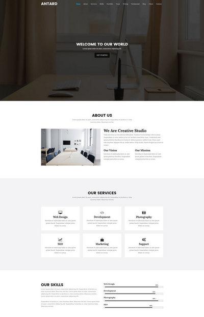 html5响应式黑色单页网站模板