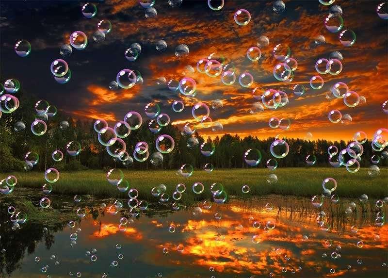 透明的肥皂泡泡ui动画特效
