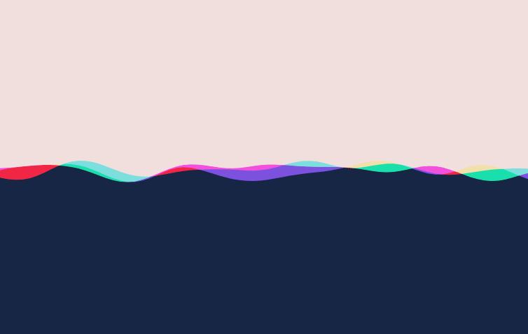 html5 canvas彩色波浪动画特效