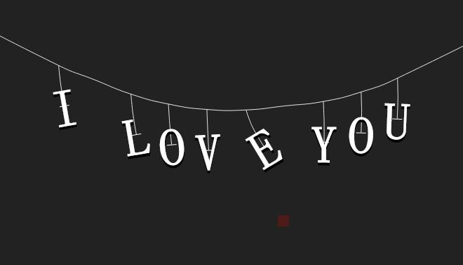 html5 canvas创意的悬挂文字动画特效