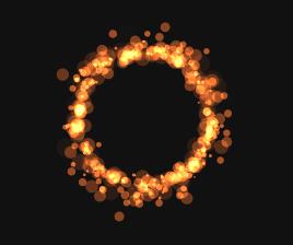 html5 canvas燃烧的火环动画特效