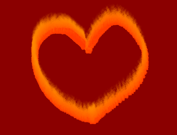 html5 canvas燃烧火焰画笔动画特效