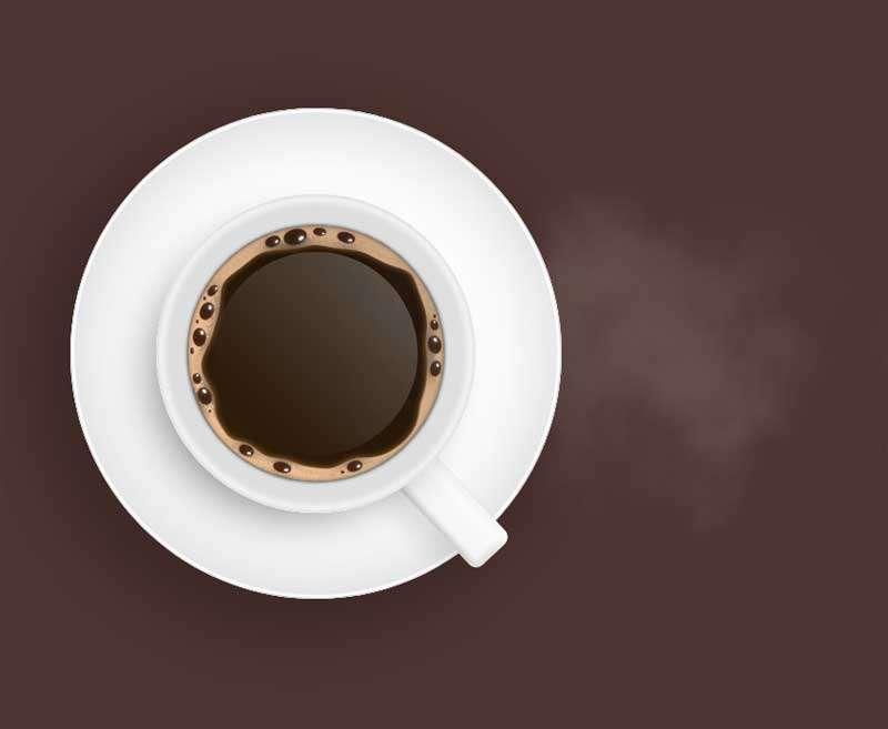 逼真的一杯热咖啡动画特效