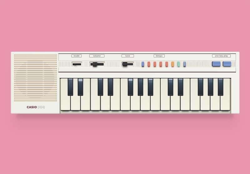 复古的电子琴css3特效