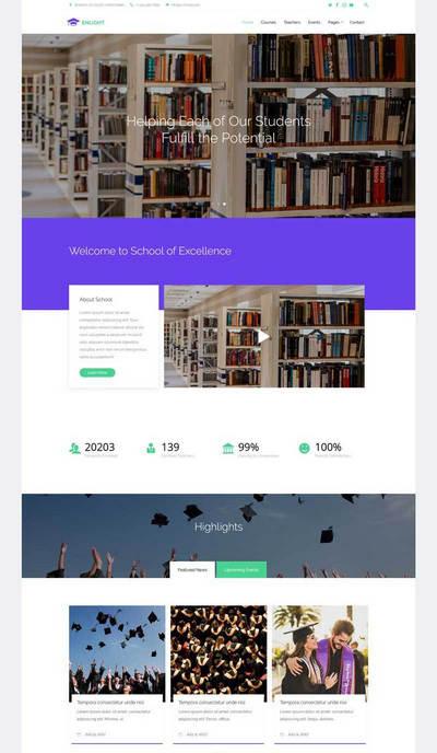 html5大学生教育学校网站响应式