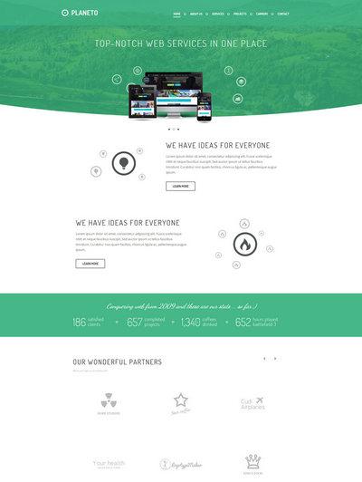 绿色html5响应式生态节能环保设