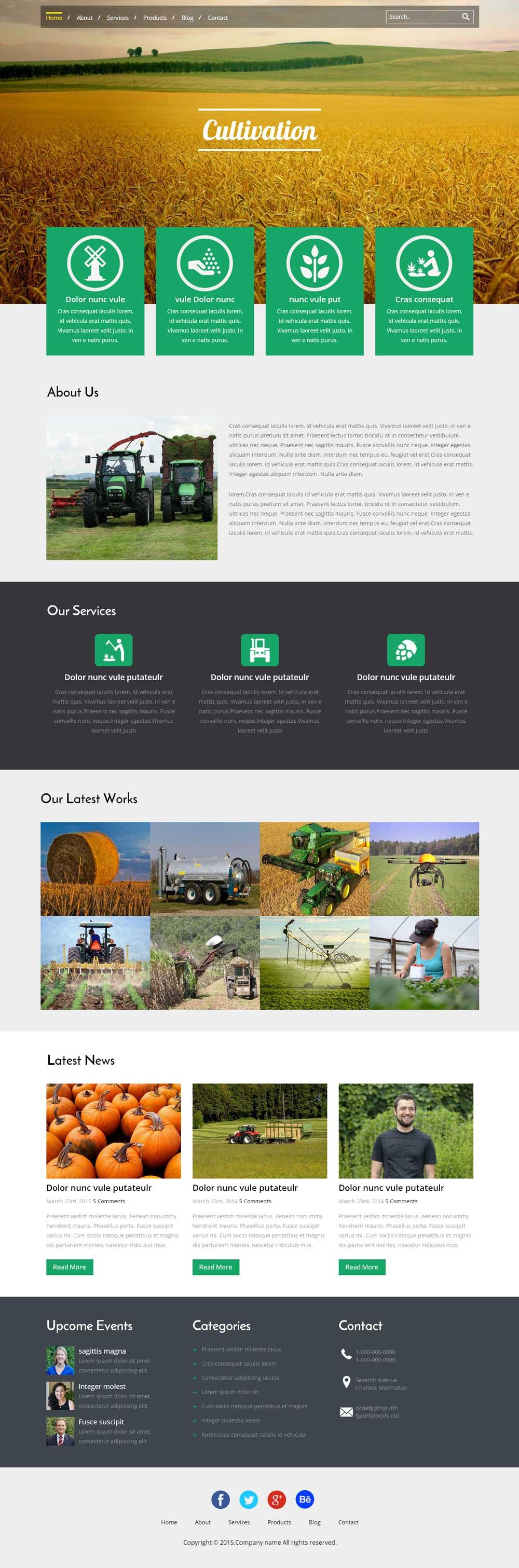 html5响应式农业企业网站模板
