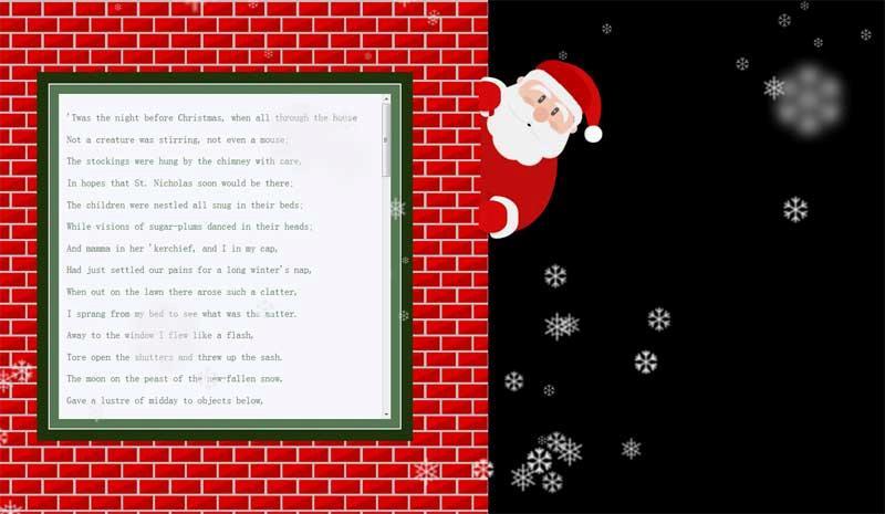jQuery css3下着雪花的圣诞老人滑动面板