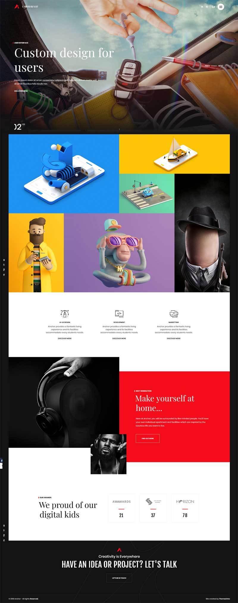 html5创意的三维动画游戏公司网站模板
