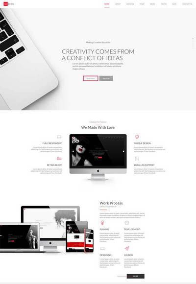 html5创意的设计工作室视差单页