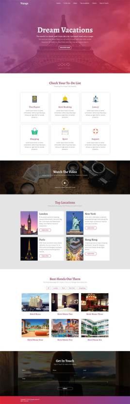 html5国外旅游攻略介绍页面模板