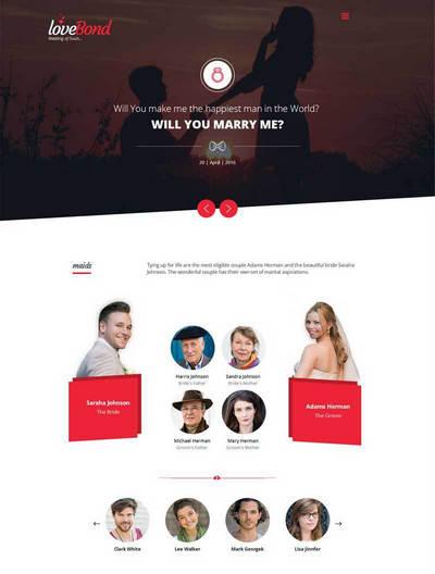 html5婚礼倒计时图片展示静态页
