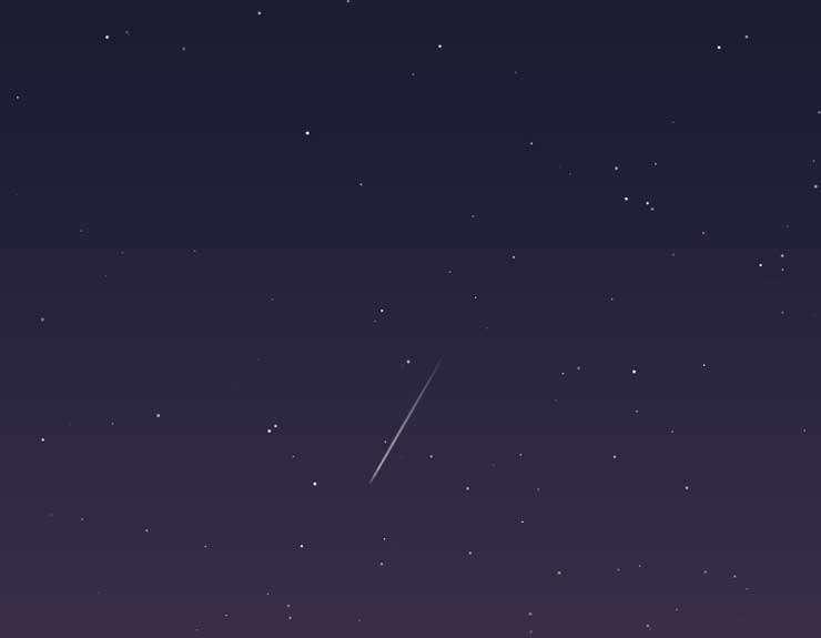 svg星空流星划过动画特效
