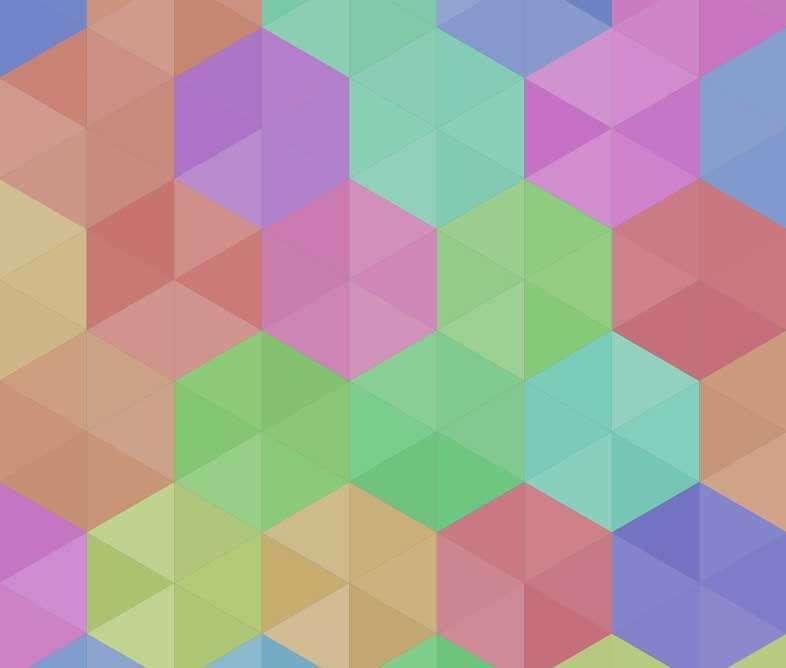 彩色的六角形图案背景特效