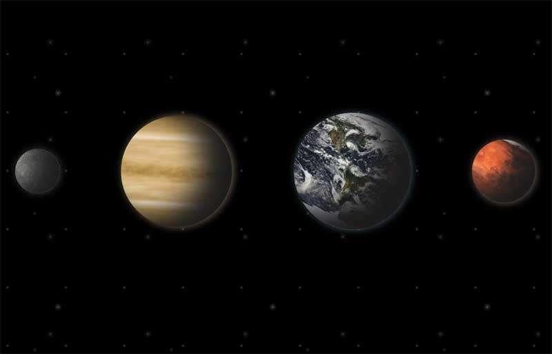 水星金星地球火星动画特效