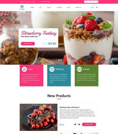 甜品蛋糕店在线购买商城静态html模板