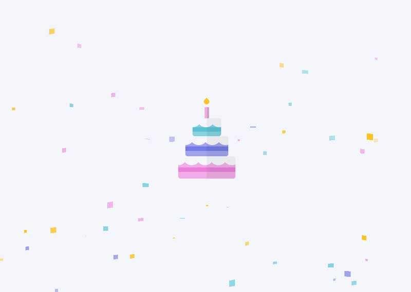 彩色的生日蛋糕主�}�赢�特效