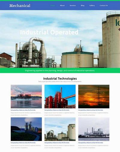 国外扁平化工业生产企业静态网站