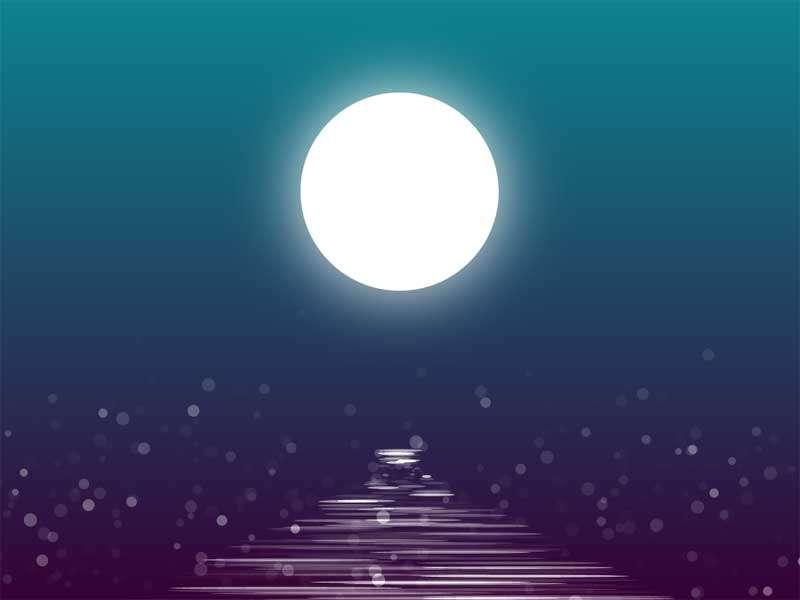 河面上的月亮倒影动画特效
