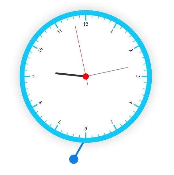 圆形的摇摆时钟特效