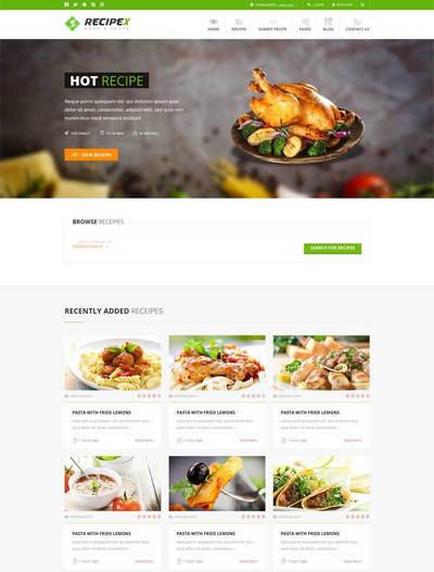 html5餐饮美食交流平台响应式静