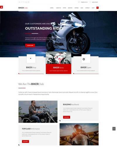 html5摩托车网上专卖店静态网页