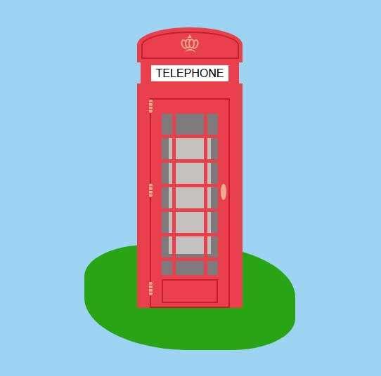 卡通电话亭ui图形特效