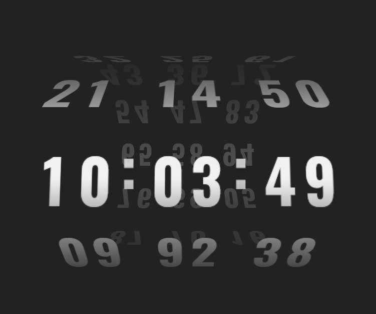 3D立体数字时钟滚动特效