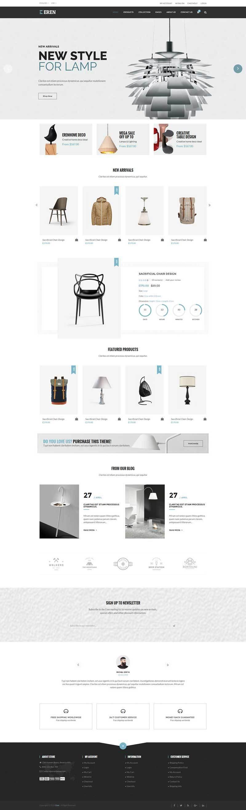 html5室内家具装饰商城网站模板