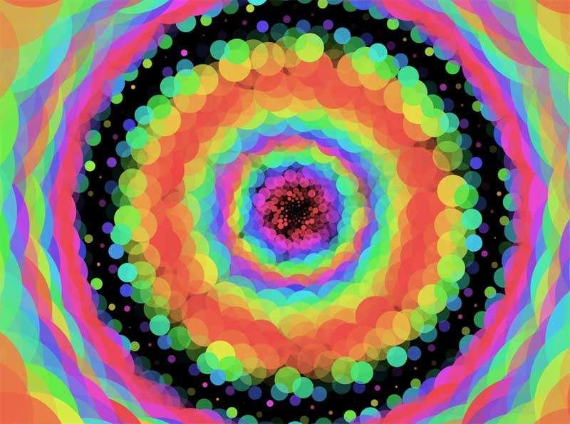 彩色花环万花筒动画特效