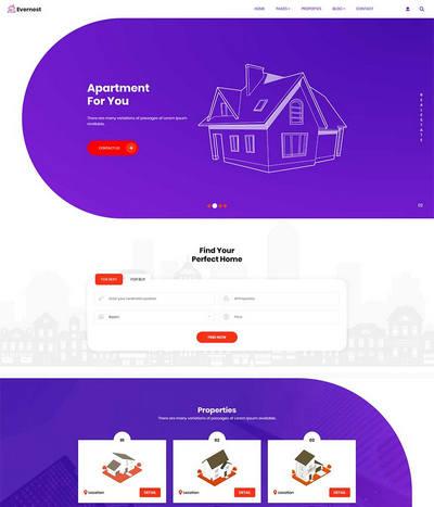Bootstrap创意房地产销售物业租