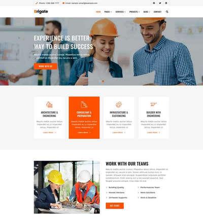 房产建筑工程企业官网html静态模