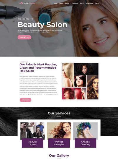 美发沙龙发型设计静态网站模板