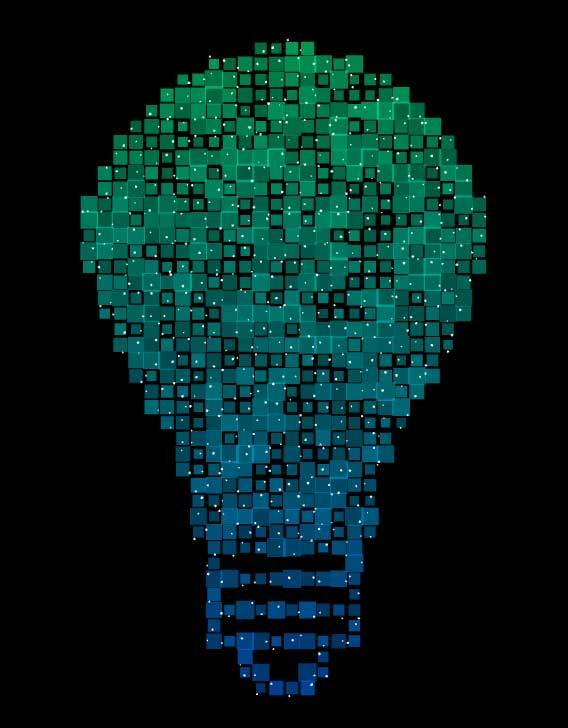 Three.js绘制像素灯泡图形特效