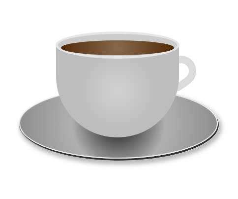 3D立体的咖啡杯图形特效
