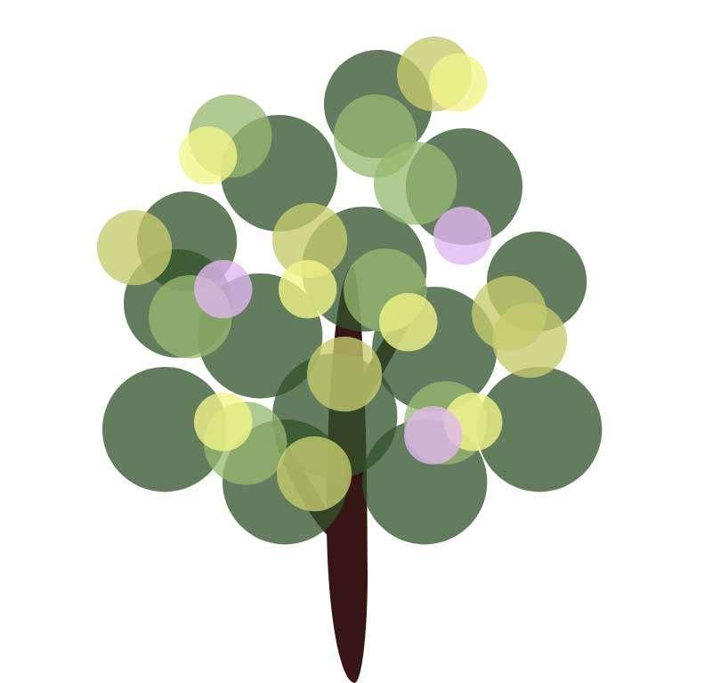绿色的卡通树图形特效